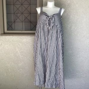Who What Wear Front Tie Dress NWOT 4X Linen Blend